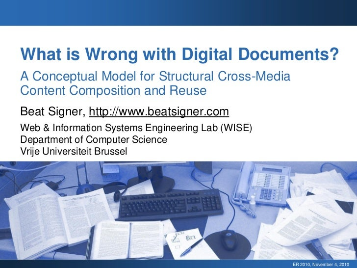 What is Wrong with Digital Documents? A Conceptual Model for Structural Cross-Media Content Composition and Reuse