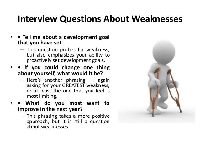 What Is Your Greatest Weakness Interview Questions