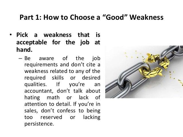 Good weaknesses for resume