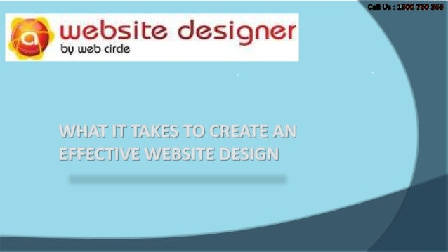 What it takes to create an effective website design