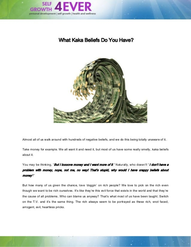 What Kaka Beliefs Do You Have? | Self Growth 4 Ever