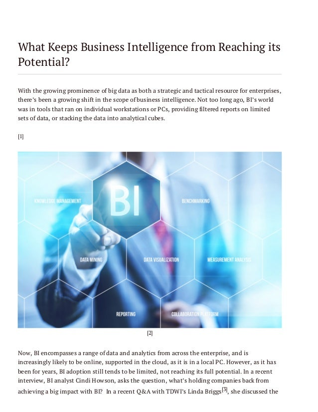 What Keeps Business Intelligence from Reaching its Potential?