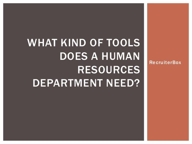 What Kind of Tools Does Human Resources Use
