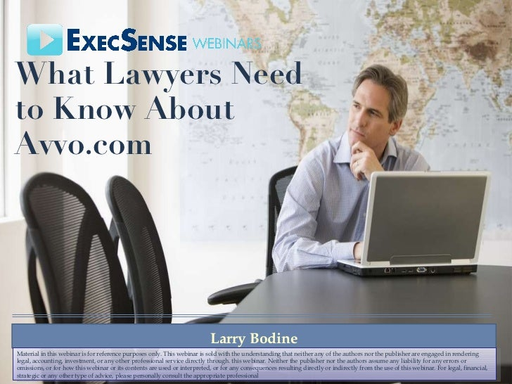 What lawyers need to know about avvo.com   execsense - 5-13-11