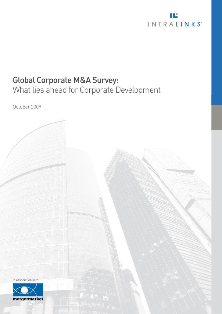 Global Corporate M&A Survey: What lies ahead for Corporate Development   01     Global Corporate M&A Survey: What lies ahe...