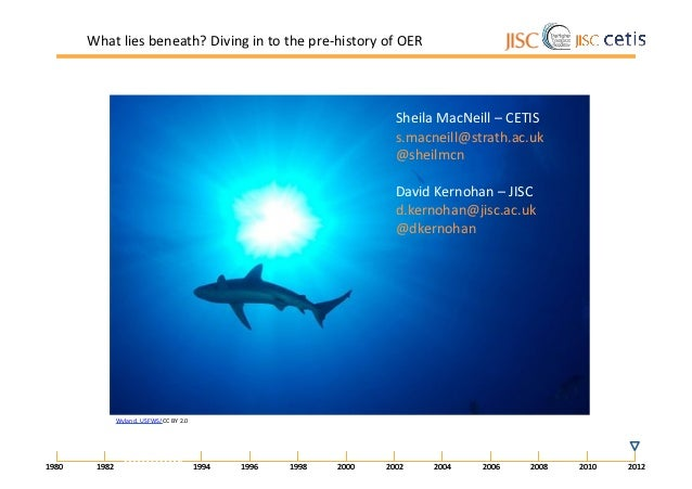 What	  lies	  beneath?	  Diving	  in	  to	  the	  pre-­‐history	  of	  OER	                                               ...