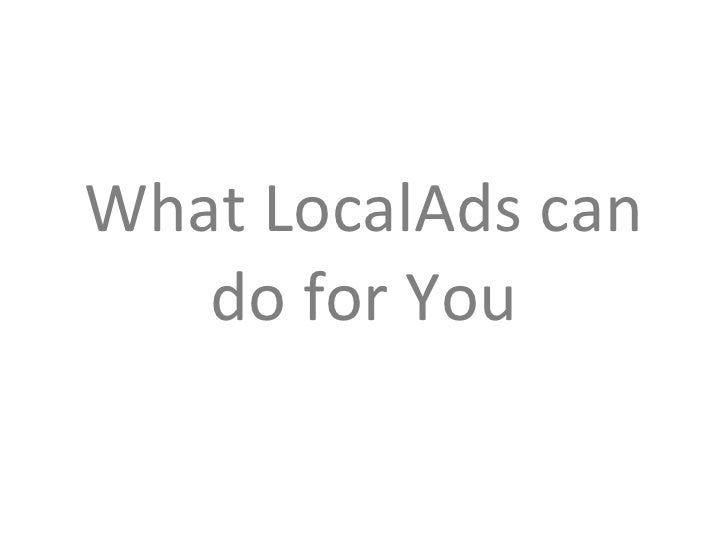 What LocalAds can do for Your Business