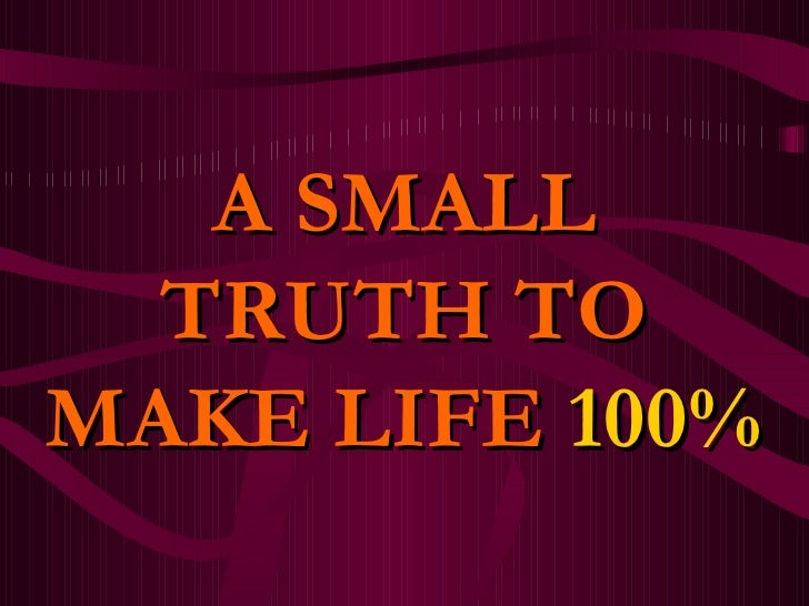 What makes 100 percent