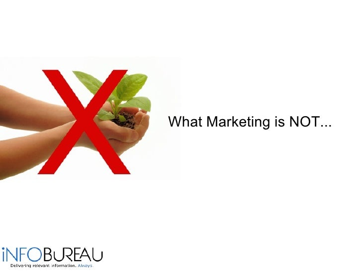 <ul><li>What Marketing is NOT... </li></ul>