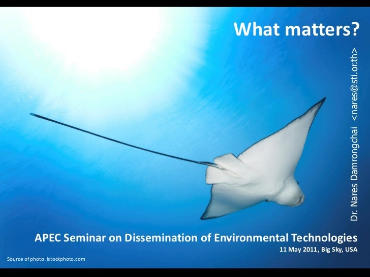 What matters in environment tech dissemination   nares damrongchai