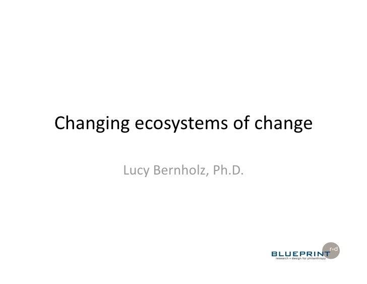 Changingecosystemsofchange         LucyBernholz,Ph.D.