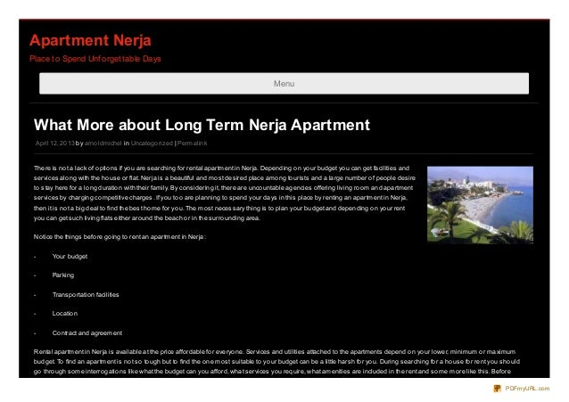 Apartment NerjaPlace to Spend Unforgettable Days                                                                          ...