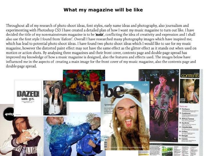 What my magazine will be like