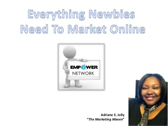 "Adriane E. Jolly ""The Marketing Maven"""