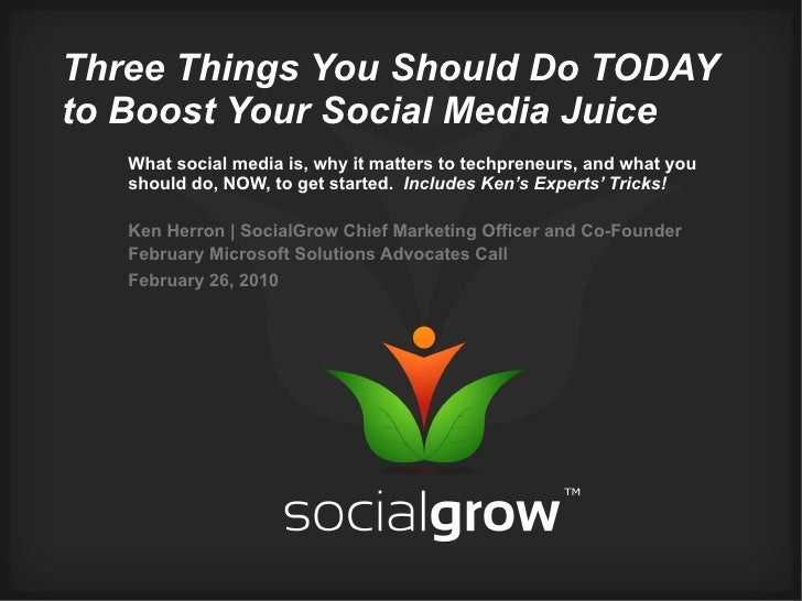 Three Things You Should Do TODAY to Boost Your Social Media Juice