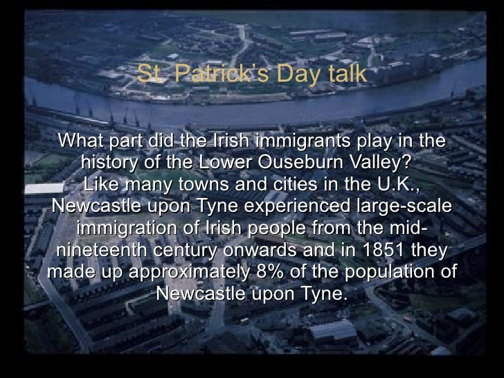 What part did the Irish immigrants play in the history of the Lower Ouseburn Valley?  Like many towns and cities in the U....
