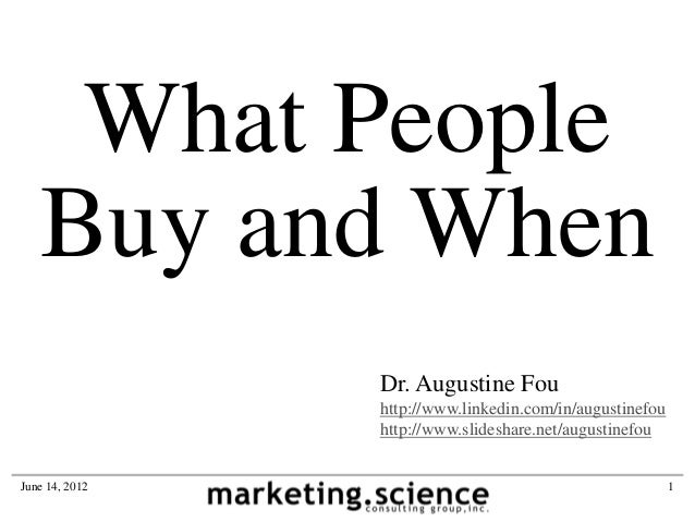 What People Buy and When by Augustine Fou