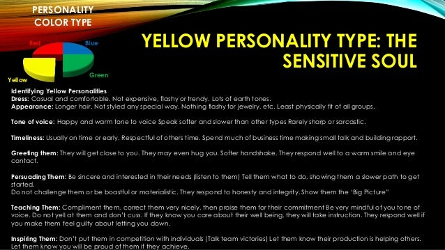 Types Personal Personality Color Type