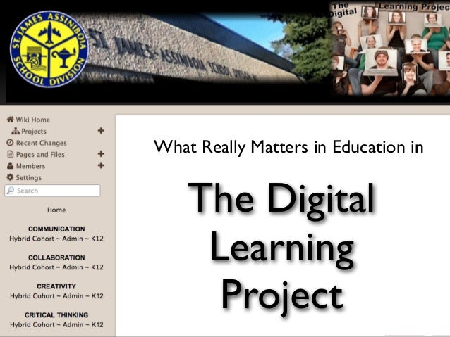 hat really matters W at What Really Matters in Education in  The Digital Learning Project