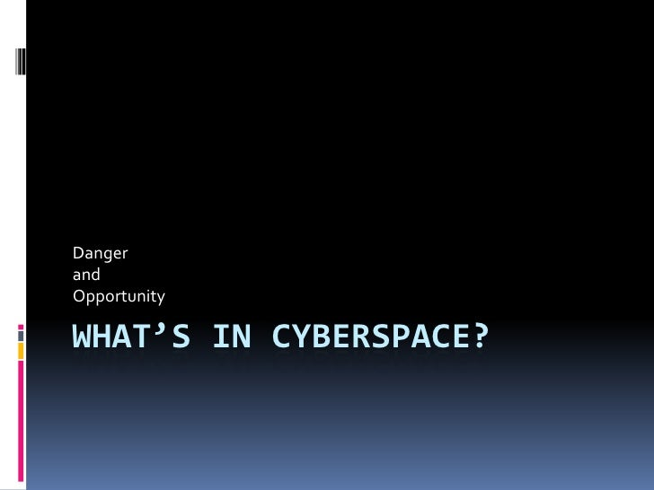 What's In Cyberspace?<br />Danger<br />and<br />Opportunity<br />