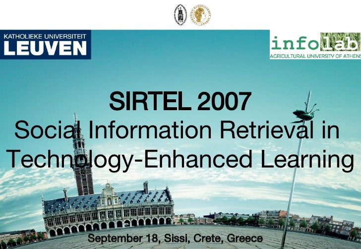 What's new in SIR for TEL? Sirtel07 Intro