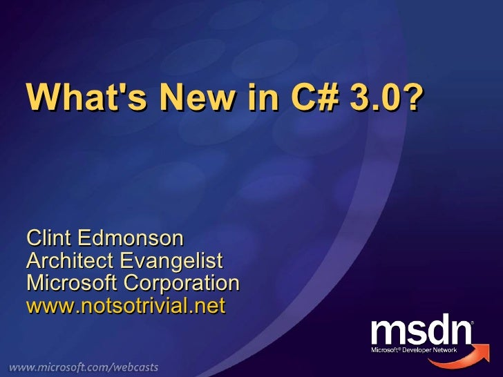 Whats New In C# 3.0