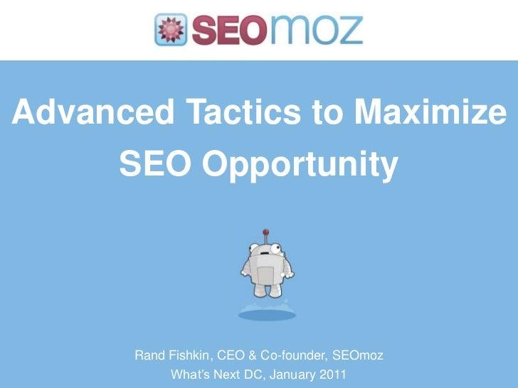 Tactics to Maximize SEO Opportunity