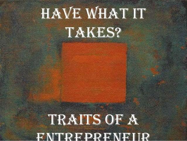 Whats an entrepreneur