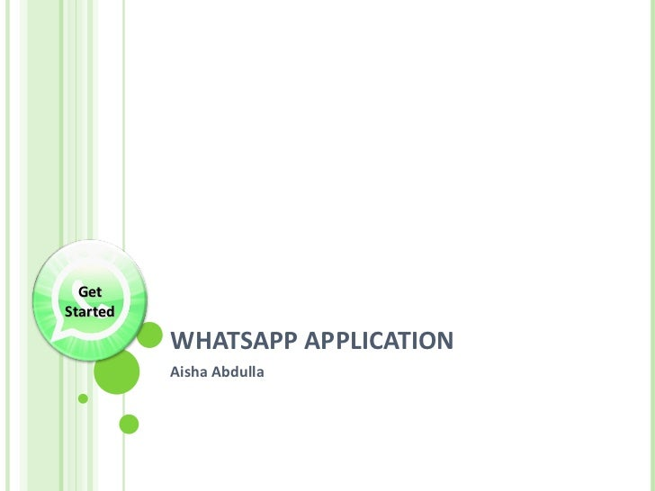 Whats app aplication  peer review