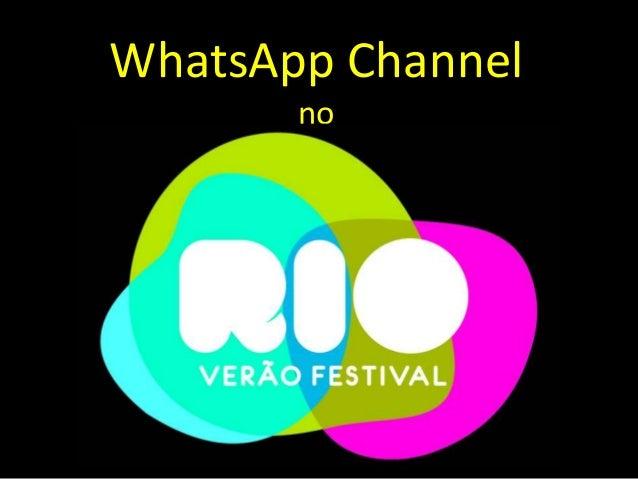 WhatsApp Channel no