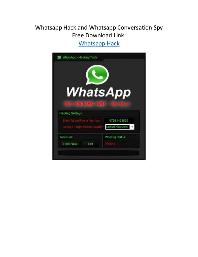 Whatsapp Hack and Whatsapp Conversation Spy Free Download Link ...