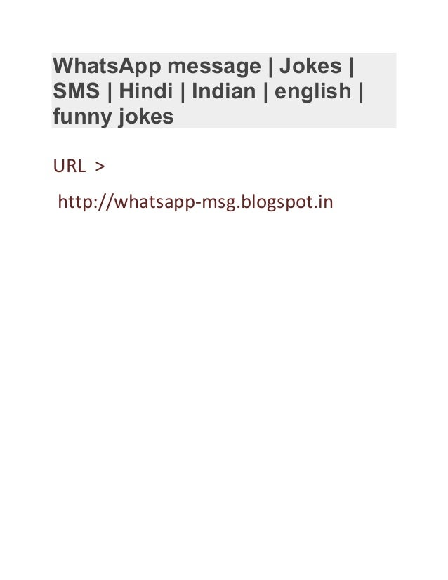 whatsapp message jokes sms hindi indian english funny