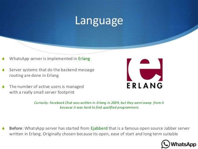 Backend Server Language Language s Whatsapp Server is