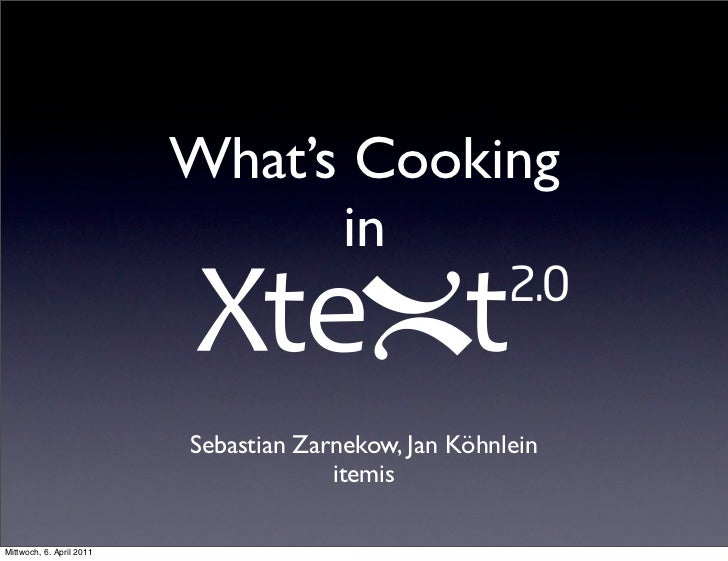 What's Cooking in Xtext 2.0