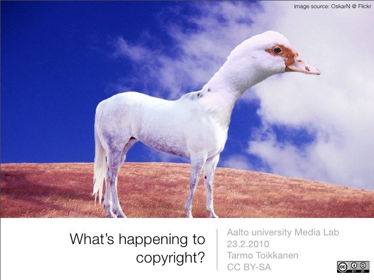 What's happening to copyright