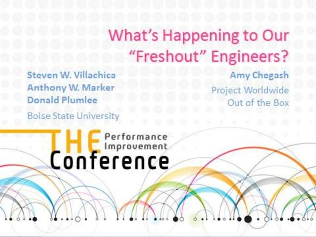 What's Happening to Our Freshout Engineers?
