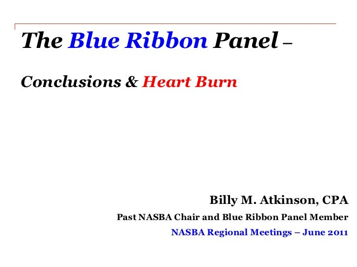 What's Happening with Private Company Standards - Blue Ribbon Panel - Billy Atkinson - Thursday - Regionals 2011