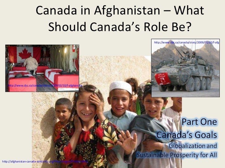 Canada's Role In Afghani