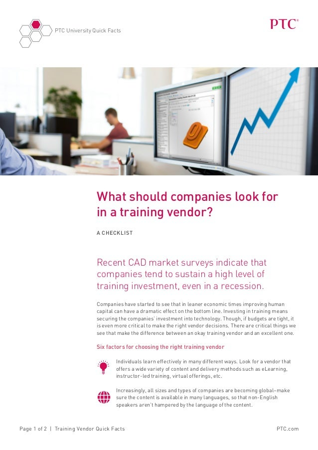 What should companies look for in a training vendor?
