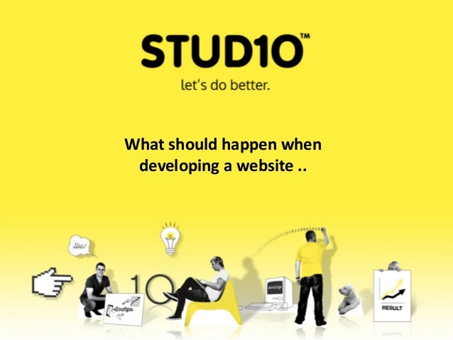 What should happen whendeveloping a website ..