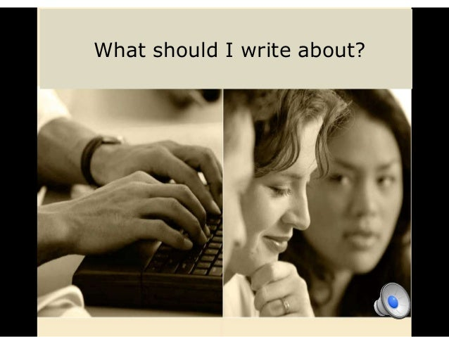 What should I write about???????