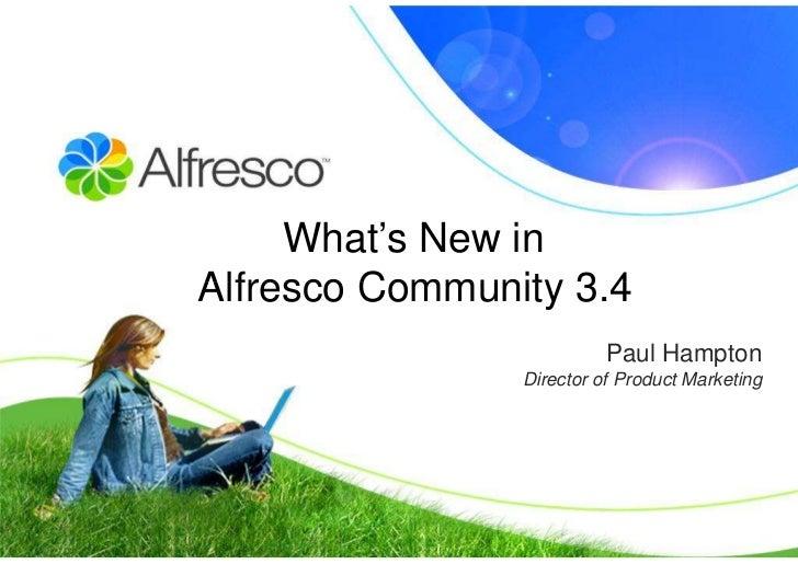 Whats new in alfresco community 3.4