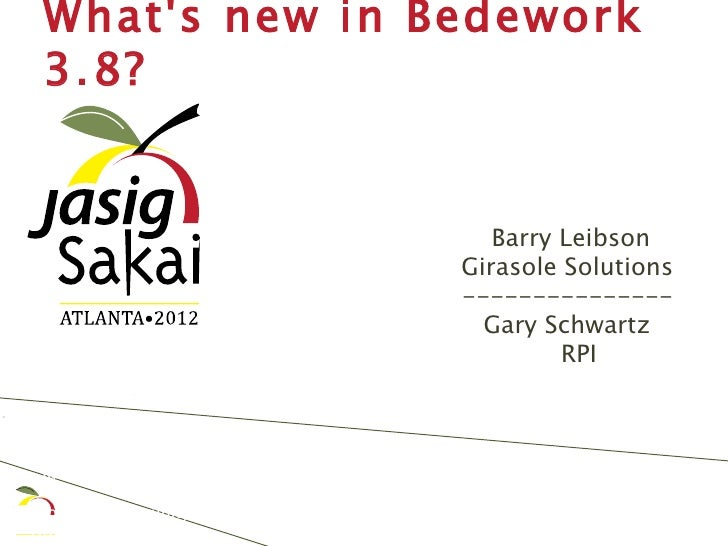 What's New in Bedework 3.8