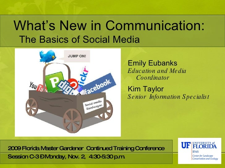 What's New in Communication: <ul><li>Emily Eubanks </li></ul><ul><li>Education and Media Coordinator  </li></ul><ul><li>Ki...
