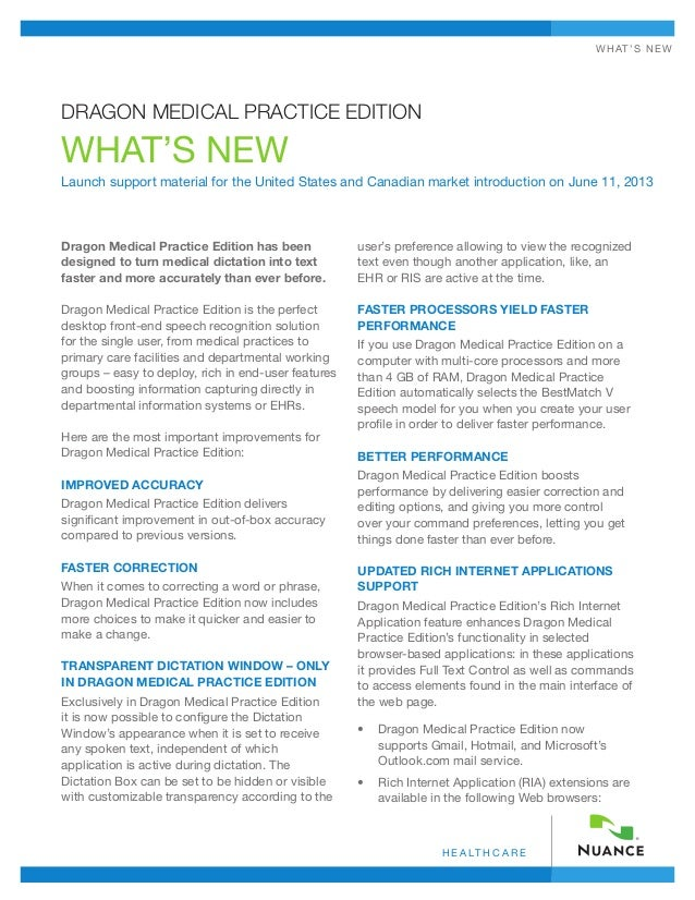 What's New In Dragon Medical Practice Edition 2