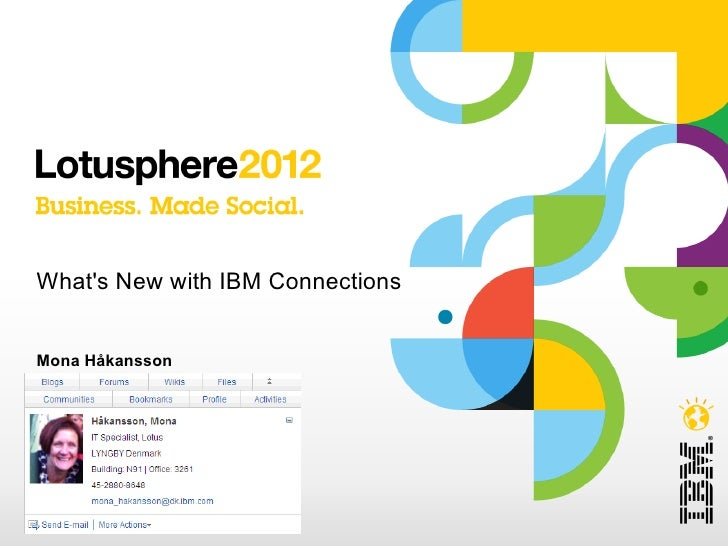 Whats New with IBM ConnectionsMona Håkansson© 2012 IBM Corporation