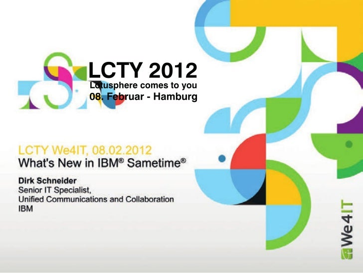 Whats New in IBM Sametime (We4IT)