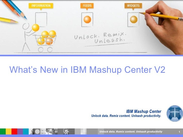 IBM Mashup Center Unlock data. Remix content. Unleash productivity. What's New in IBM Mashup Center V2
