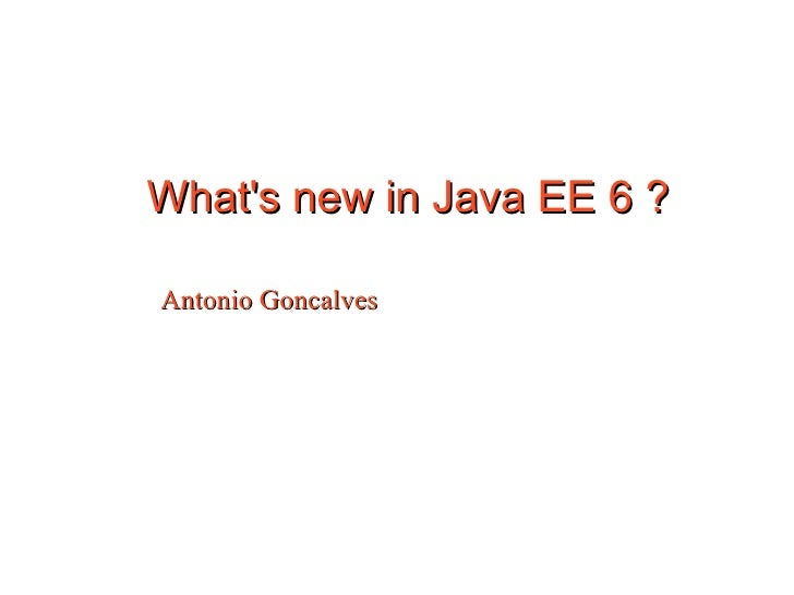 Whats New In Java Ee 6