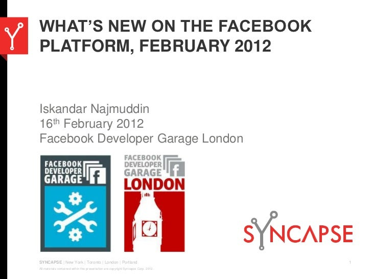 What's New on the Facebook Platform, February 2012